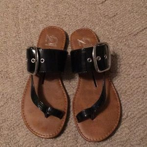 New Direction Black Sandals